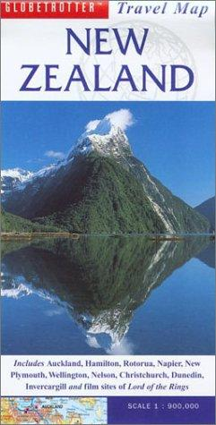 New Zealand Travel Map by Globetrotter