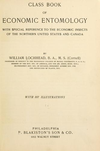 Class book of economic entomology by William Lochhead