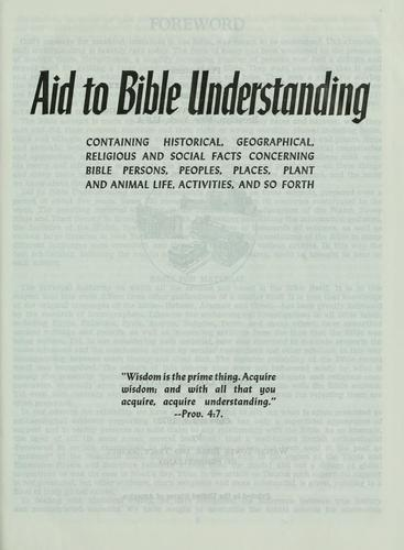 Aid to Bible understanding by