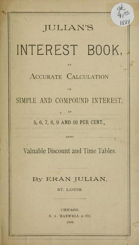 Julian's interest book by Eran Julian