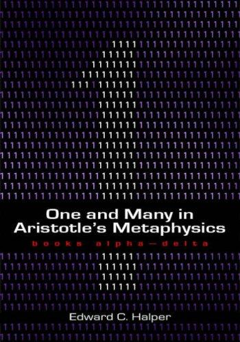 One and many in Aristotle's Metaphysics.