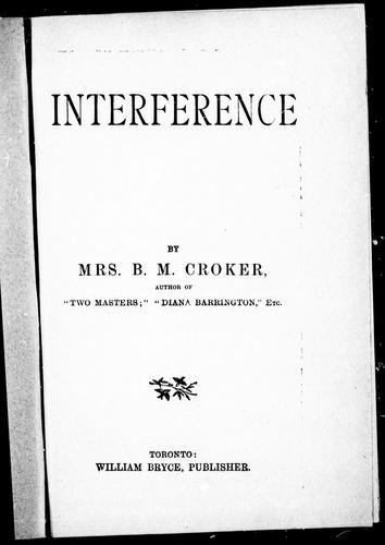 Interference by B. M. Croker