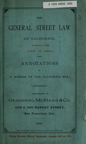 The general street law of California