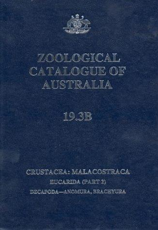 Zoological Catalogue of Australia by P. J. F. Davie