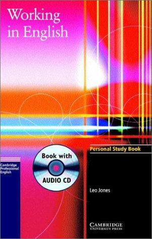 Working in English Personal Study Book with Audio CD (Working in English) by Leo Jones