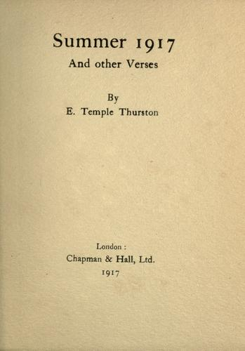 Summer 1917 by Ernest Temple Thurston