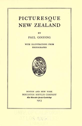 Picturesque New Zealand by David Paul Gooding