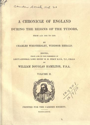 [Publications] by Camden Society (Great Britain).