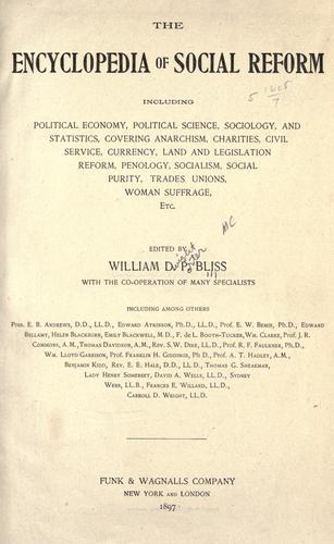 The encyclopedia of social reform