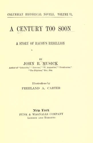 A century too soon