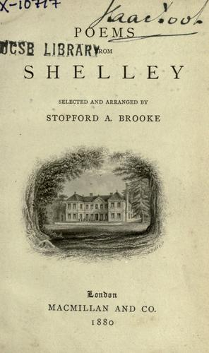 Poems from Shelley by Percy Bysshe Shelley