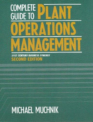 Complete Guide To Plant Operations Management, 21st Century Business Synergy by Michael Muchnik