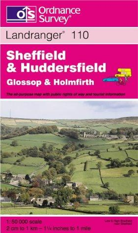 Sheffield and Huddersfield, Glossop and Holmfirth (Landranger Maps)