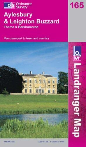 Aylesbury and Leighton Buzzard, Thame and Berkhamstead (Landranger Maps)