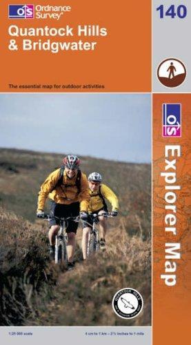 Quantock Hills and Bridgwater (Explorer Maps)
