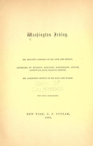 Washington Irving by