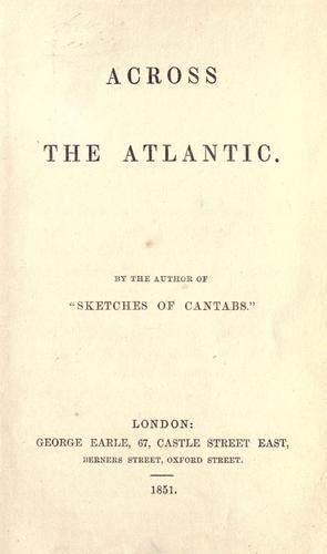 Across the Atlantic by John Delaware Lewis