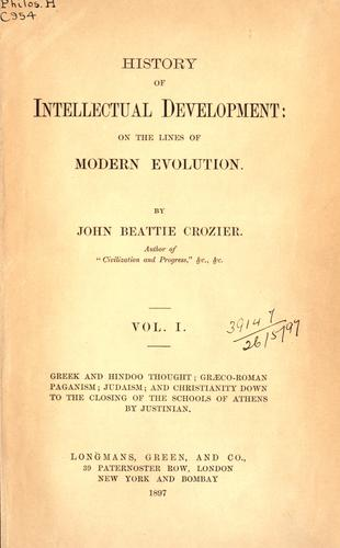 History of intellectual development on the lines of modern evolution.