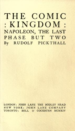 The comic kingdom by Rudolf Pickthall