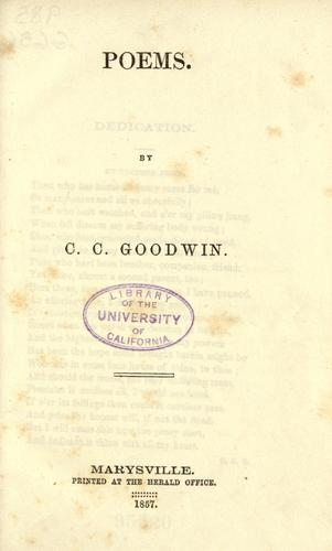 Poems by C. C. Goodwin