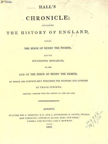 Hall's chronicle