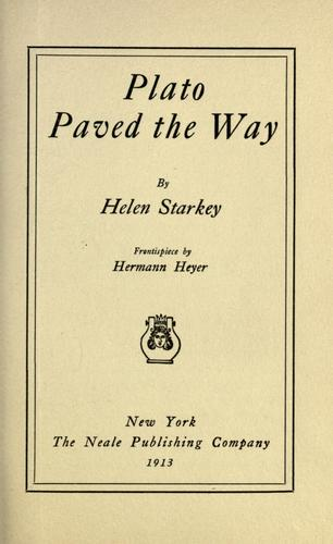 Plato paved the way by Helen Starkey