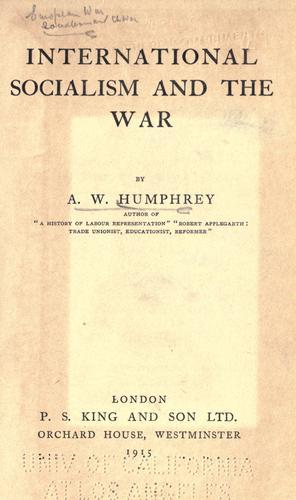 International socialism and the war