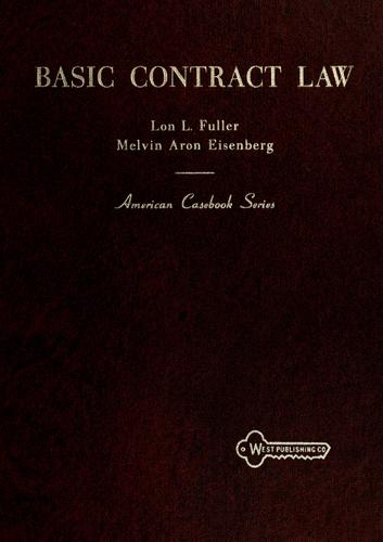 Basic contract law by Lon L. Fuller