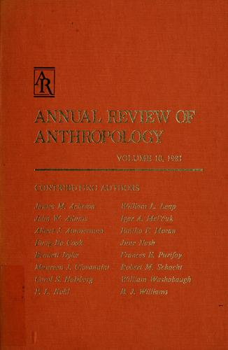 Annual review of anthropology by