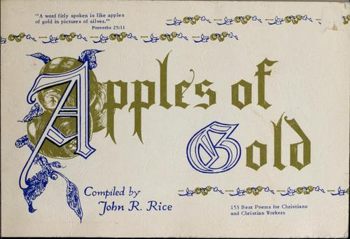 Apples of gold by John R. Rice