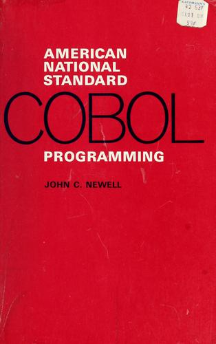 American national standard COBOL programming by Newell, John C.