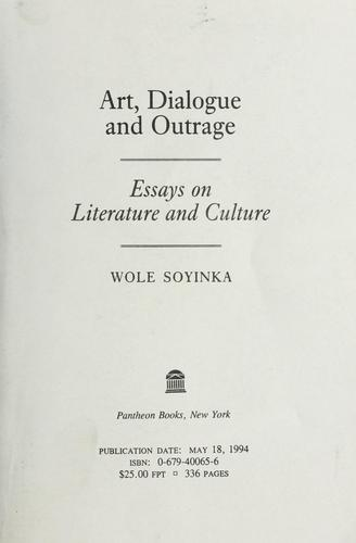 ART, DIALOGUE, AND OUTRAGE