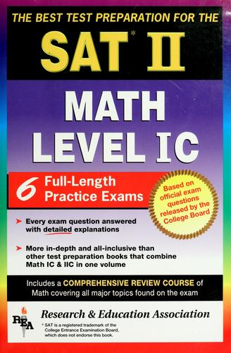 The best test preparation for the SAT II, subject test by M. Fogiel