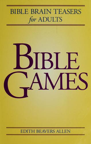 Bible games by Edith Beavers Allen