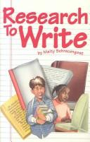 Research to write by Maity Schrecengost