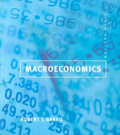 Macroeconomics by Barro, Robert J.