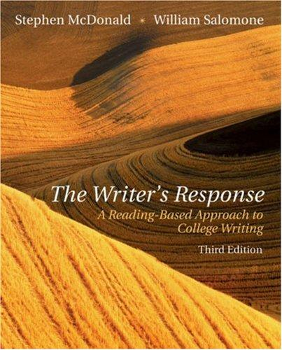 The writer's response by Stephen McDonald